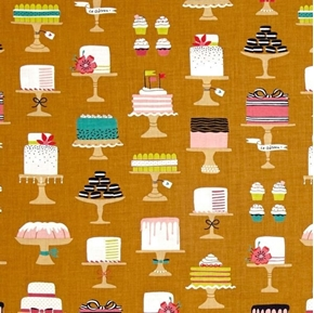 Picture of Sweet Cakes Bake Shop Fancy Cake Ladyfingers Cupcake Cotton Fabric