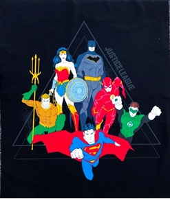 Picture of DC Comics Justice League Activated Pyramid Large Cotton Fabric Panel