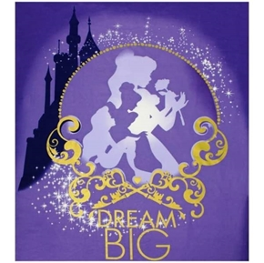 Disney Princess Heart Strong Dream Big Large Cotton Fabric Panel