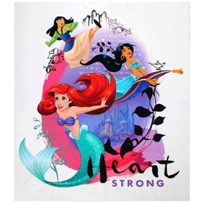 Picture of Disney Princess Heart Strong Heart Strong Large Cotton Fabric Panel