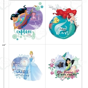 Picture of Disney Princess Heart Strong Explore New Worlds Fabric Panel Set