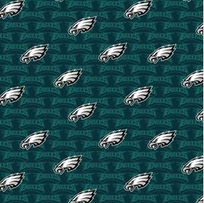 NFL Football Philadelphia Eagles 2018 Logo 18x29 Cotton Fabric