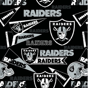 Picture of NFL Football Oakland Raiders Vintage-Look 2018 18x29 Cotton Fabric