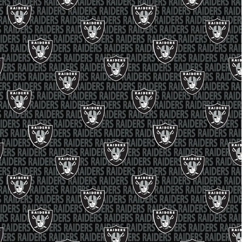 Cotton Fabric Sports Fabric Nfl Football Oakland Raiders 2018