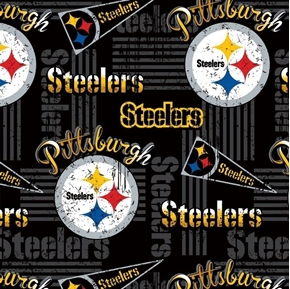 Picture of NFL Football Pittsburgh Steelers Vintage-Look 2018 18x29 Cotton Fabric