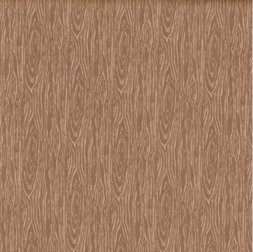 Im Board Wood Grain Taupe Golden Brown Cotton Fabric
