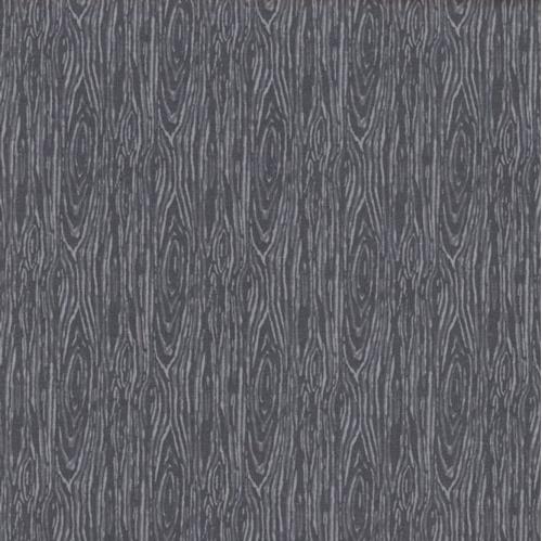 Picture of I'm Board Wood Grain Steel Gray Cotton Fabric