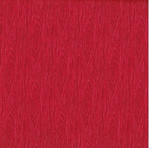 Im Board Wood Grain Red Cotton Fabric