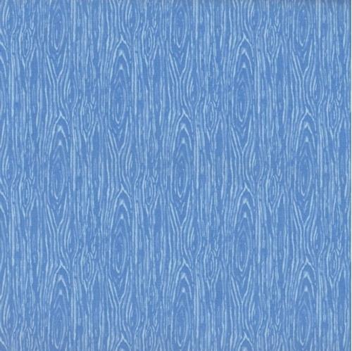 Im Board Wood Grain Light Blue Cotton Fabric