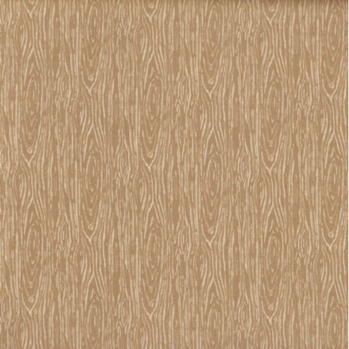 Im Board Wood Grain Camel Light Brown Cotton Fabric
