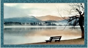Picture of Artworks X Lake in the Mountains Serene 24x44 Cotton Fabric Panel