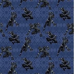 Picture of Marvel Black Panther in Action Wakanda Purple Cotton Fabric