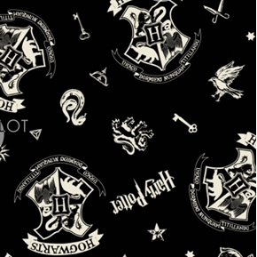Picture of Wizarding World Harry Potter Tossed Assets J K Rowling Cotton Fabric