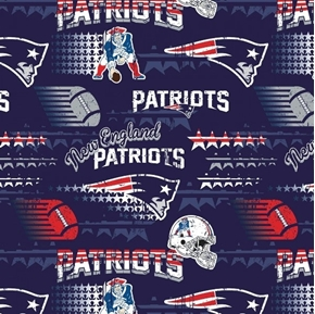 NFL Football New England Patriot Vintage-Look 2018 18x29 Cotton Fabric
