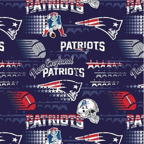 NFL Football New England Patriot Vintage-Look 2018 18x29 Cotton Fabric