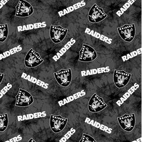 Picture of Flannel NFL Football Oakland Raiders Marbled Cotton Fabric