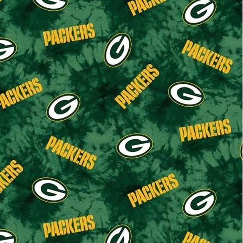 Picture of Flannel NFL Football Green Bay Packers Green Marbled Cotton  Fabric 652315320