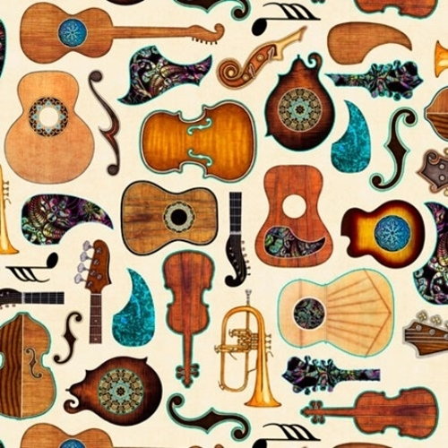 Fine Tuning Guitars Guitar Parts Music Instruments Cream Cotton Fabric