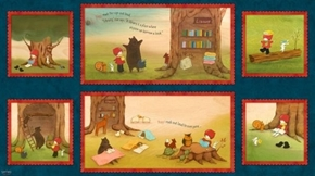 Reading Together Poppi Loves Picture Patches 24x44 Cotton Fabric Panel