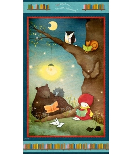Reading Together Poppi Loves Character Panel 24x44 Cotton Fabric Panel