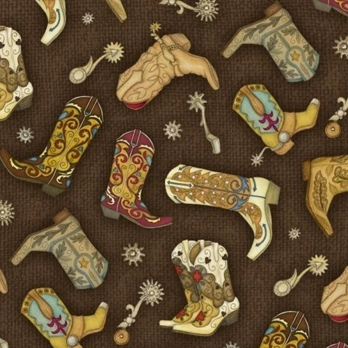 Cotton Fabric Children Fabric Rodeo Roundup Cowboy