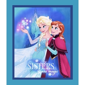 Disney Frozen Sisters Are Magic Large Cotton Fabric Panel