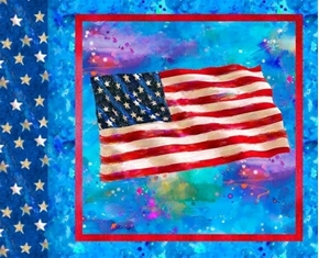 Picture of American Icons Patriotic American Flag Digitally Printed Pillow Panel