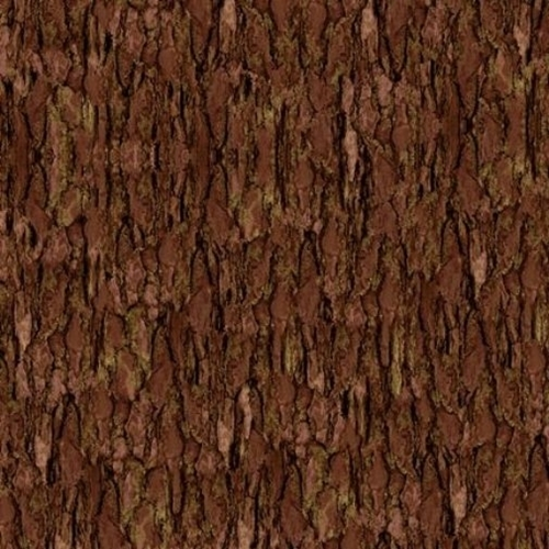 Nocturnal Wonders Tree Bark Brown Bark Cotton Fabric