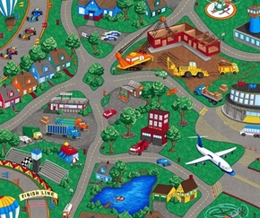 Picture of Sew N Go VII Children's Playmat Town with Streets Cotton Fabric Panel