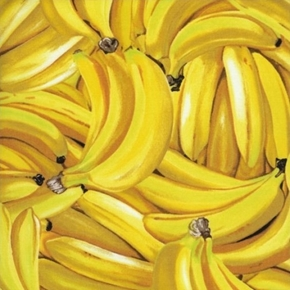 Picture of Bananas Delicious Yellow Banana Fruit Cotton Fabric