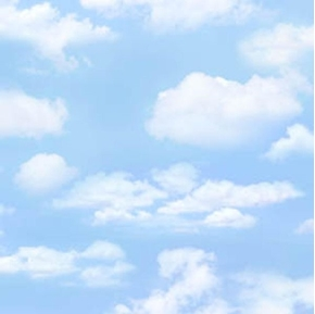 Landscape Medley Light Blue Sky with White Clouds Cotton Fabric