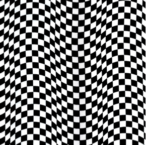 Checkered Flags Racing Black and White Flag Pattern Cotton Fabric