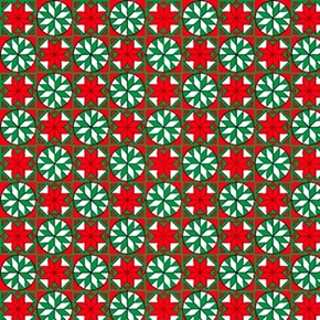Home For The Holidays Snowflake Tiles Christmas Quilt Cotton Fabric