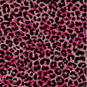 Toucan Do It Cheetah Leopard Skin Pink Pattern Cotton Fabric