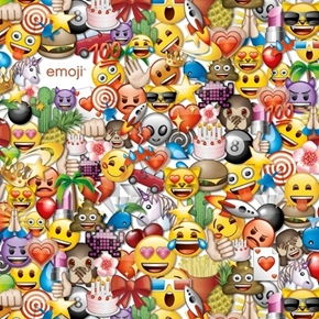 Emoji Party Texting Faces Emoticon Emojis Packed Cotton Fabric
