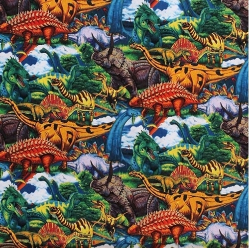 Picture of Age of the Dinosaurs Packed Dinosaur Cotton Fabric