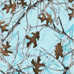 True Timber Camouflage Conceal Camo Tree Branches Blue Cotton Fabric