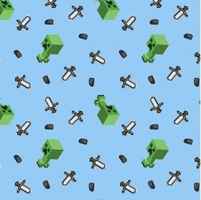 Picture of Minecraft Mini Mob Creeper Video Game Creepers Cotton Fabric