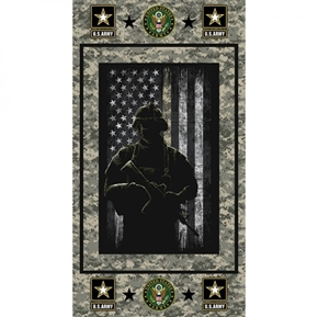 Picture of Military United States Army Armed Service 24x44 Cotton Fabric Panel