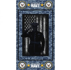 Military United States Navy Armed Service 24x44 Cotton Fabric Panel