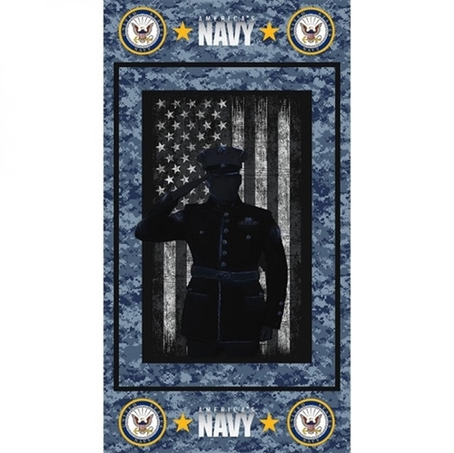 Picture of Military United States Navy Armed Service 24x44 Cotton Fabric Panel