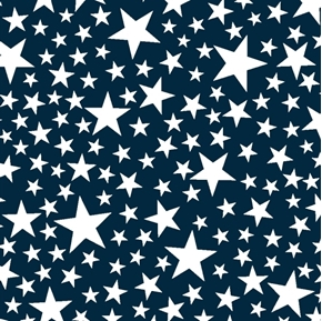 Picture of Kick Off Your Boots White Stars on Blue Cotton Fabric