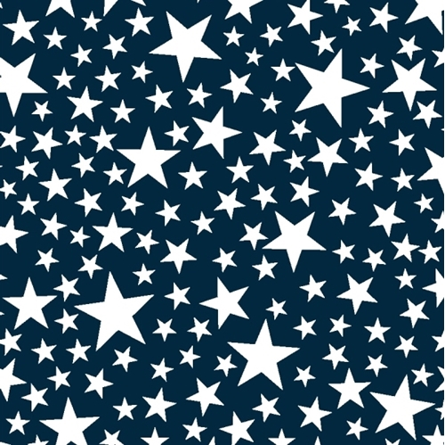 Kick Off Your Boots White Stars on Blue Cotton Fabric