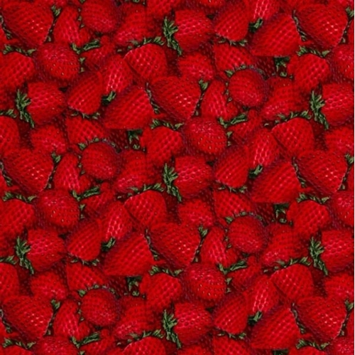 Packed Strawberries Delicious Red Strawberry Fabric