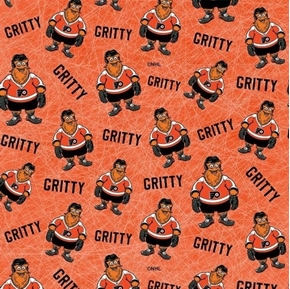 Picture of NHL Hockey Gritty Philadelphia Flyers Mascot Orange Cotton Fabric