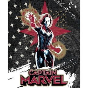 Marvel Avengers Captain Marvel Carol Danvers Cotton Fabric Panel