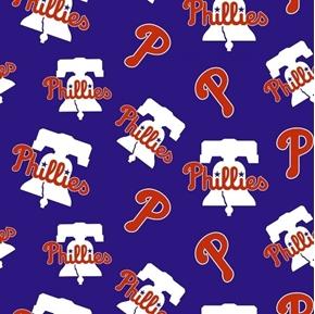 MLB Baseball Philadelphia Phillies Liberty Bells 18x29 Cotton Fabric