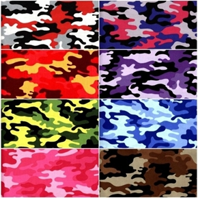 Kickin Camo 8 Fat Quarter Cotton Fabric Collection