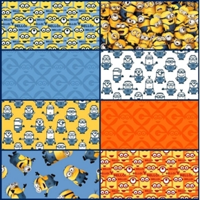 One in a Minion 8 Fat Quarter Cotton Fabric Collection