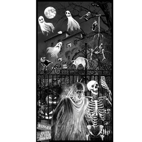 Picture of Ghoulish Gathering Halloween Glow in Dark 24x44 Cotton Fabric Panel